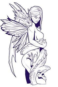 Fairy, Female, Dragon, Fantasy