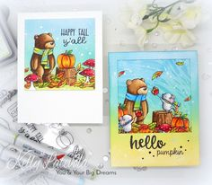 You and Your Big Dreams: SSS Stamptember 2017 - Neat & Tangled Exclusive (video) Thanksgiving Greeting Cards, Fall Cards, Card Making Inspiration, Making Ideas, Neat And Tangled, Simon Says Stamp Blog, Pretty Pink Posh, Animal Cards, Halloween Cards
