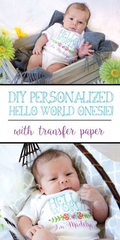 Let your little one greet the world in style with this personalized onesie! Free printable graphic and tutorial.