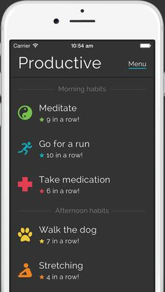 Productive - Habits & goals tracker An amazing app that helps you to build good habits . Habit Formation, Day Schedule, Productivity Quotes, Tracking App, Daily Goals, Good Habits, Healthy Habits, Health App, How To Stay Motivated