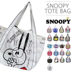 Snoopy Tote Bag Charlie Brown And Love Woodstock Peanuts