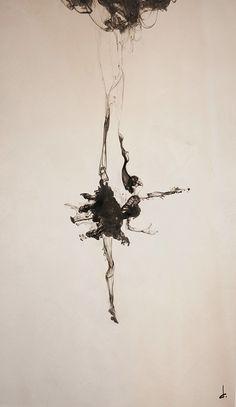 Black Dancer: Illustration and Photographic Ink Artwork by David Calluori Tattoo Bailarina, Marionette Tattoo, Art Beauté, Art Et Illustration, Art Inspo, Amazing Art, Cool Art, Art Drawings, Art Photography