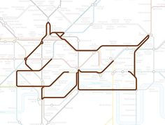 Barking the Dog. | 22 Animals Who've Been Hiding Out In The London Underground Map