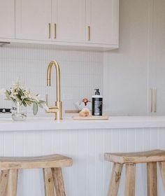 Kitchen Room Design, Home Room Design, Kitchen Tiles, Home Decor Kitchen, Kitchen Living, Kitchen Interior, Home Kitchens, Hamptons Kitchen, Kitchen Images