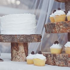 Cake Stand & Cupcake Stand DIY (Cupcakes will be made by Gramma Chocolate with caramel icing)