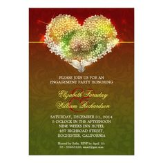 romantic modern engagement party invitations
