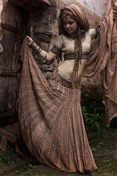 1001 night Dream Block Print gypsy Dancer long by AnuttaraCrafts Danza Tribal, Tribal Dance, 80s Fashion, Korean Fashion, Boho Fashion, Gothic Fashion, Bohemian Gypsy, Gypsy Style, Hippie Style