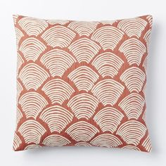 Crewel Deco Shells Pillow Cover - Rose Bisque | West Elm