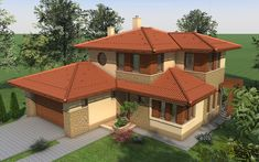 Emeletes családi ház 227 m2 | Családiházam.hu Design Case, Modern House Design, Shed, Outdoor Structures, Cabin, House Styles, Home Decor, Architecture, Rustic Homes