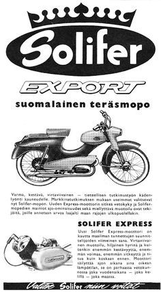 Vanhoja mainoksia: Solifer mopedi 1961 Vintage Cars, Retro Vintage, Moped Scooter, Modern Bedroom Design, Classic Bikes, Dream Garage, Old Toys, Car Car, Finland
