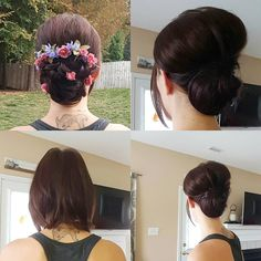 """""""Extensions, a stylists #bestie  #updo #hairups #weddinghair #extensions #bob #shorthair #hairart #chignon #floralaccent #wheretheresawilltheresaway…"""""""