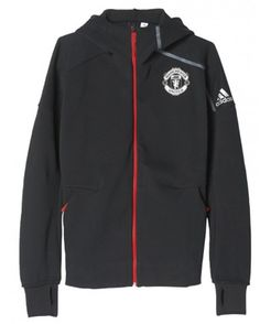 2016 2017 Manchester United ZNE Hoodie Black Manchester United Hoodie,  Black Adidas Shoes, 6a40d98917c3
