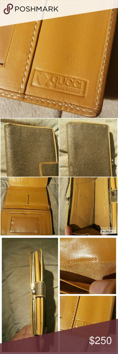 Authentic vintage Gucci wallet A beautiful wallet that is gently used. Markings are in the coin pouch from coins and a small scratch seen in the last pic. Perfect for someone who wants luxury without the need to pay luxury price Gucci Bags Wallets
