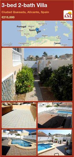 3-bed 2-bath Villa in Ciudad Quesada, Alicante, Spain ►€215,000 #PropertyForSaleInSpain