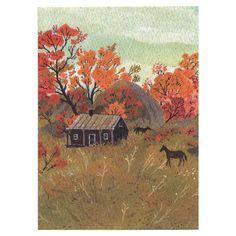 Little Otsu — Autumn Card by Becca Stadtlander