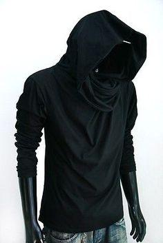 New Men Longsleeve Turtle Cowl Neck Hoodie Scraf Shirt Top Size s M L XL   eBay