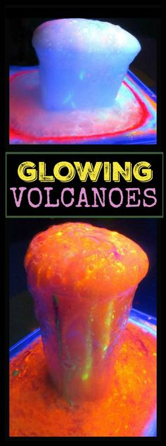 We had so much fun with this next activity!  Rosie and Jewel love baking soda and vinegar science, so with that in mind I set up a little experiment.  The objective was to see if we could make glowing