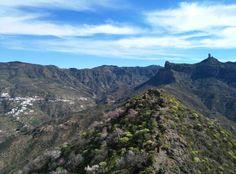 Tejeda y Roque Nublo visto desde el Roque Bentaiga