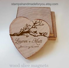 Wedding Favor Wood Magnets100 Custom Save von stampshandmadeforyou, $138.00