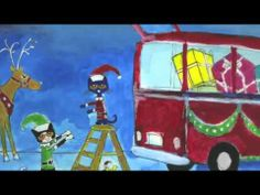 In Pete the Cat Saves Christmas by Eric Litwin and James Dean, Pete drives his minibus from Florida to the North Pole to give Santa a hand. It's a good thing minibuses make good sleighs. Preschool Christmas, Christmas Music, Christmas Videos, Christmas Stories Online, Online Stories, Xmas, Christmas Movies, Christmas Activities, Winter Activities