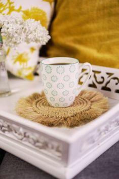 Makramee Untersetzer selber machen   Pimp Your Stuff Diy Craft Projects, Diy And Crafts, Diy Interior, Pimp, Crafty, Tableware, Inspiration, Boho, Diy Decorating