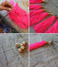 Designer DIY: Neon Tassle Necklace with Holst & Lee | Stripes & Sequins
