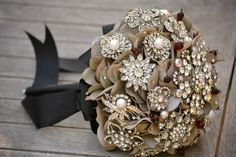 How to make a Brooch Bouquet...... One of the latest trends in DIY weddings is The Brooch Bouquet. Not only is this a perfect way to incorporate your �something old� (be sure to ask grandmas, aunts, and visit lots of thrift stores!), but it is a great way for the br