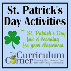 Patrick's Day Activities -these free activities for the classroom include a bump game along with a roll, read & write game. There is also a matching game and cute treat toppers. All from The Curriculum Corner. Classroom Freebies, Classroom Activities, Free Activities, Classroom Ideas, Writing Games, St Patrick Day Activities, Fun Learning, Learning Activities, Spring Crafts For Kids
