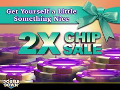 (EXPIRED) Do something nice for yourself today! All chip packages are double-sized for a limited time. And for 150,000 FREE Chips, just tap the Pinned Link (or use code CRJCGX)
