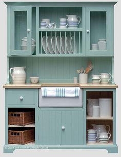A Swedish Style Sink Unit Dresser from The Kitchen Dresser - excellent idea for the smaller kitchen, without any loss of style.