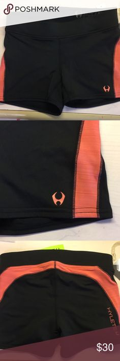 "Hylete Shorts 2"" inseam. Light orange detail.  90% polyester, 10% spandex Hylete Shorts"