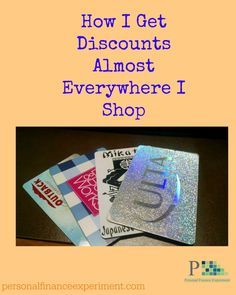 Buying gift cards at a discounted price saves me money almost everywhere.