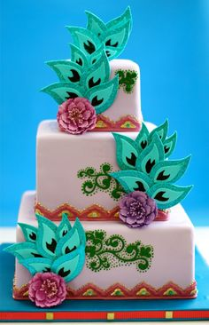 Peacock Cake by Sucrette, Tailored Confections Unique Cakes, Elegant Cakes, Creative Cakes, Peacock Cake, Peacock Wedding Cake, Wedding Cakes, Peacock Theme, Peacock Design, Gorgeous Cakes