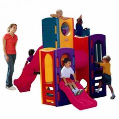 Little Tikes Playground is durable & Little Tikes outdoor playground is extra large & comes in bright colors. Order Little Tikes outdoor playground online. Little Tikes Playground, Backyard Playground Sets, Toddler Playground, Backyard Toys, Backyard For Kids, Playground Design, Playground Ideas, Backyard Ideas, Outdoor Toys
