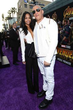 b1e996f9774 Zoe Saldana Photos - Zoe Saldana and Vin Diesel attend the premiere of  Disney and Marvel s
