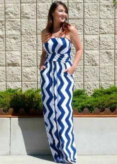 NanaMacs Vintage Boutique - Stunning Navy Vertical Chevron Maxi Dress, €38.09 (http://www.nanamacs.com/stunning-navy-vertical-chevron-maxi-dress/)