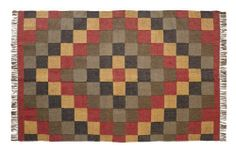 """Homestead Kilim Rug Rectanglar 60x96"""" by Victorian Heart. $252.95. Product measurements and additional details listed in title and/or Product Description below.. See Product Description below for more details!. High end quality and workmanship!. All cloth items in our collections are 100% preshrunk cotton. All braided items (like rugs, baskets, etc.) are 100% jute. Extensive line of matching items and accessories available! (Search by Collection name). This rug is made of 50% j..."""