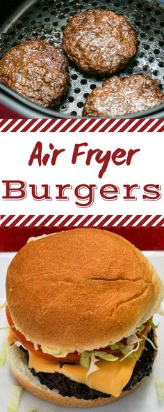 Fryer Burgers If you're like me and you don't like the mess and hassle of cooking hamburgers on the stove top, you'll love these Air Fryer Hamburgers. They taste delicious and there's no greasy mess to clean up. Air Fryer Oven Recipes, Air Frier Recipes, Air Fryer Dinner Recipes, Air Fryer Recipes Hamburger, Hamburgers On The Stove, How To Cook Hamburgers, Cooking Hamburgers, Cooks Air Fryer, Air Fried Food