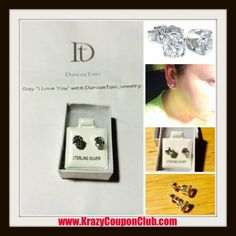 ****Review: Diamond Simulant Earrings in Sterling Silver from DarcusTori + Giveaway!!**** #darcustori - Krazy Coupon Club