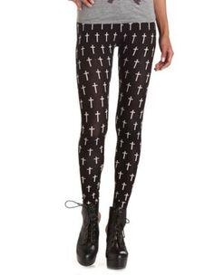 cross print cotton legging