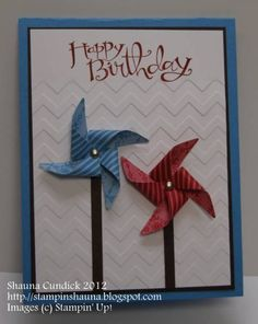 Pop Out Pinwheels by stampinshauna - Cards and Paper Crafts at Splitcoaststampers