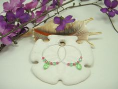 Watermelon delight crystal wedding and bridal party earrings by CherryBlossomMuse, $8.99