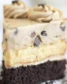 Chocolate chip cookie dough cheesecake fudge brownie
