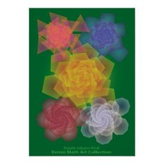 Regular polygon floral poster - diy cyo customize create your own personalize