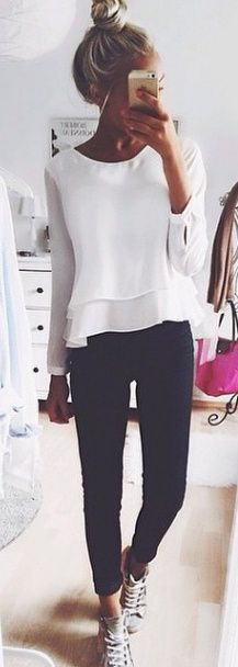 Love this white blouse!!