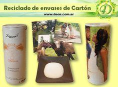 Eco artesanías: reciclado de envase de cartón www.deon.com.ar