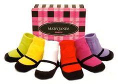 Baby socks that look like Mary Jane's. Cute baby gift!