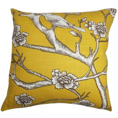 Tadita Floral Pillow Yellow Brown