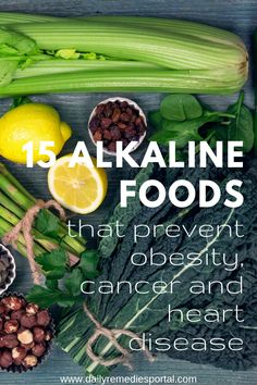 Healthy Living Tips 15 Alkaline Foods that Prevent Obesity, Cancer, and Heart Disease - Daily Remedies Portal - Natural Cough Remedies, Natural Health Remedies, Natural Cures, Herbal Remedies, Health And Wellness, Health Fitness, Alkaline Foods, Diet Foods, Health And Fitness