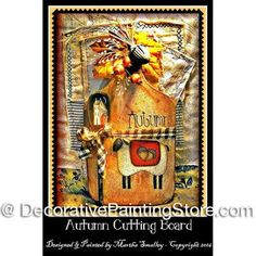 Autumn Cutting Board ePattern - Martha Smalley - PDF DOWNLOAD